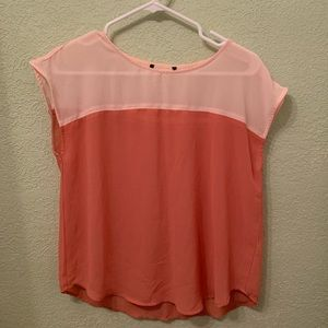 Salmon Sheer Top